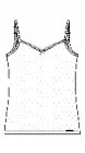 Skiny - Cotton Dream 36125 lányka spagettipántos trikó